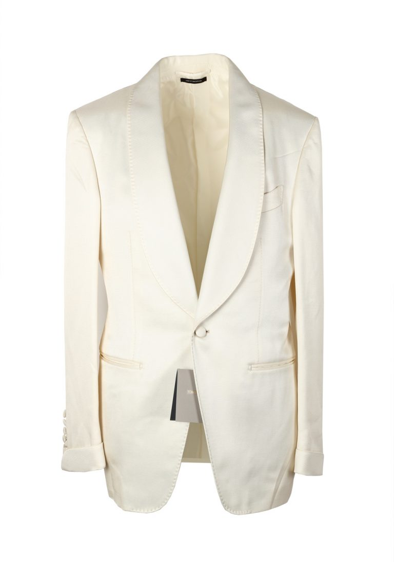 TOM FORD Shelton Ivory Sport Coat Tuxedo Dinner Jacket Size 46 / 36R U.S. - thumbnail | Costume Limité