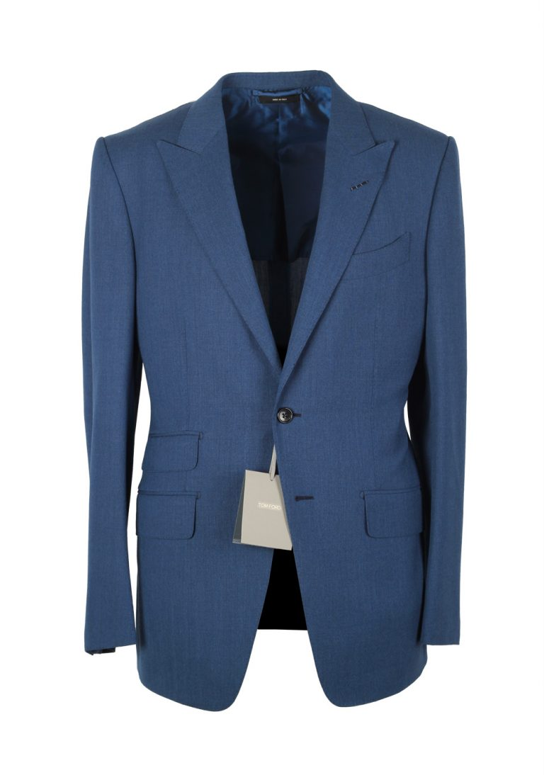 TOM FORD O'Connor Blue Sport Coat Size 48 / 38R U.S. Wool Fit Y - thumbnail   Costume Limité