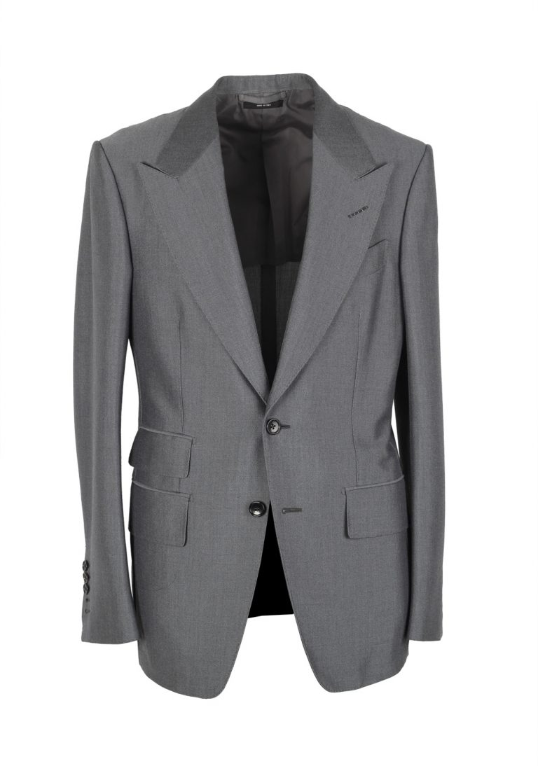 TOM FORD Shelton Gray Suit Size 46 / 36R U.S. In Mohair Wool - thumbnail | Costume Limité