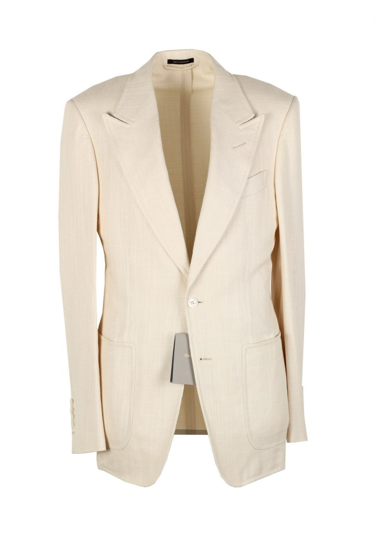 TOM FORD Shelton Cream Suit Size 46 / 36R U.S. In Rayon - thumbnail | Costume Limité