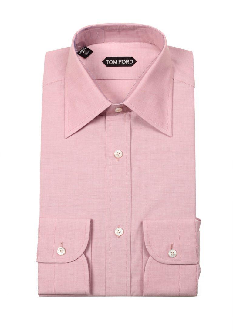 TOM FORD Solid Pink Dress Shirt Size 40 / 15,75 U.S. - thumbnail | Costume Limité