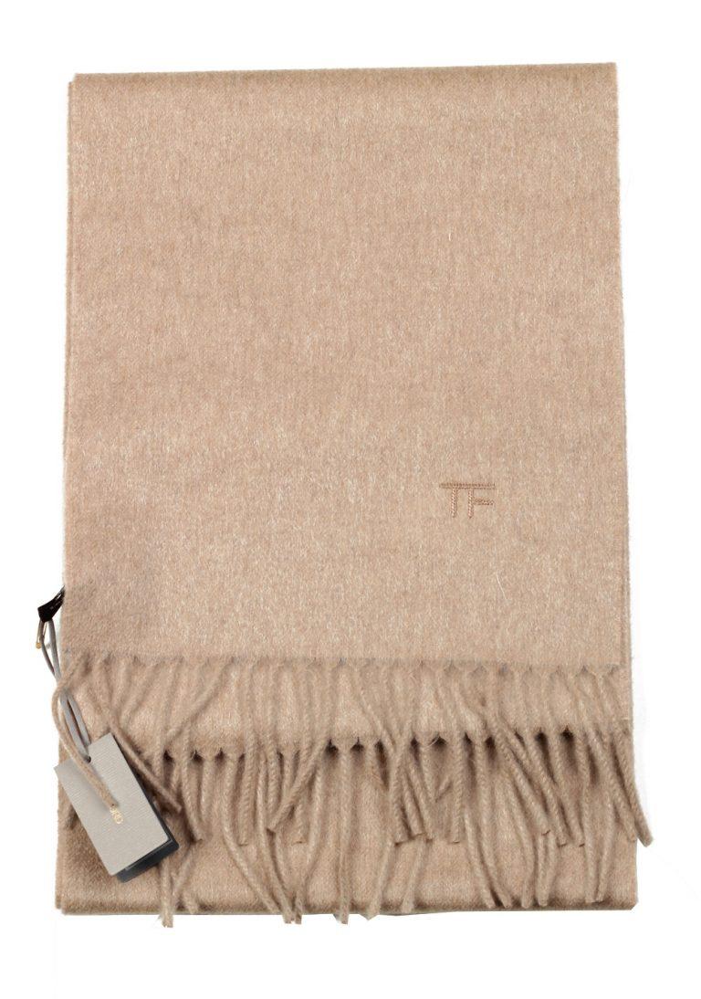 Tom Ford Camel Cashmere Signature Scarf 110″ / 10.5″ - thumbnail   Costume Limité
