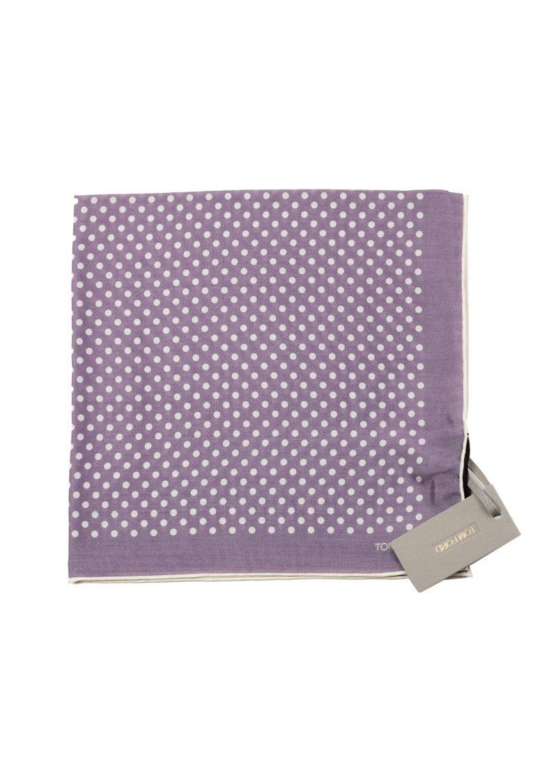 Tom Ford Purple Silk Pocket Square Dot Pattern 16″ x 16″ - thumbnail | Costume Limité