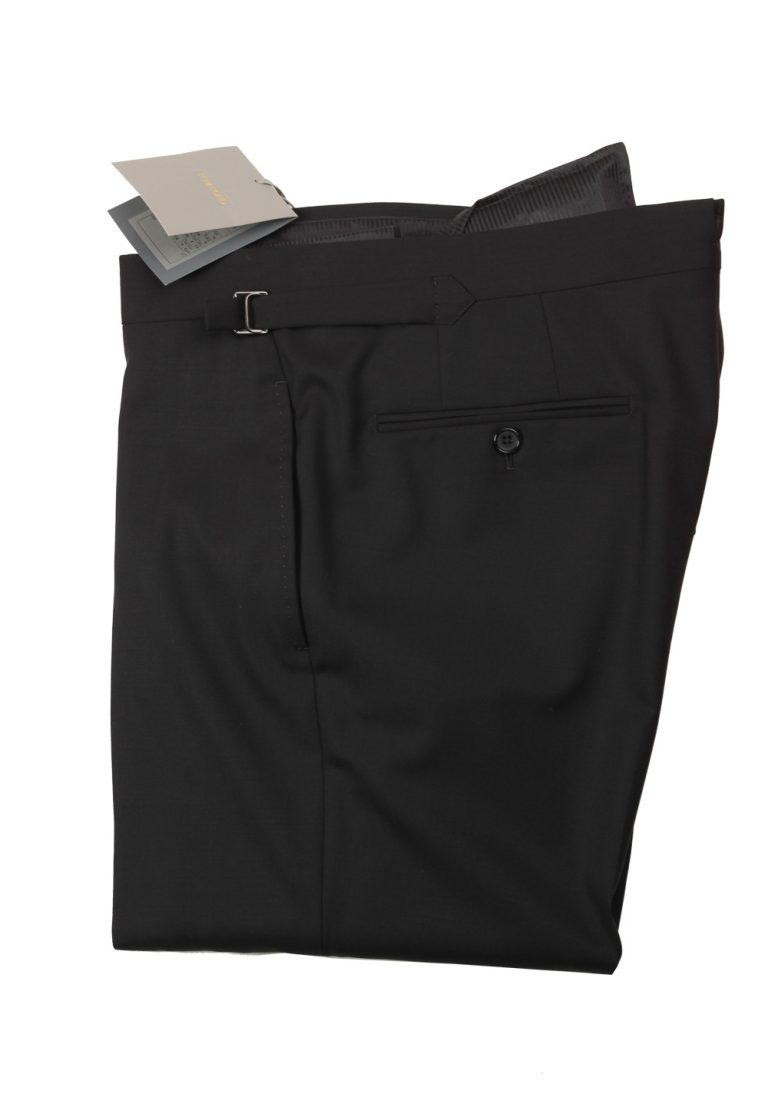 TOM FORD Black Wool Dress Trousers Size 60 / 44 U.S. - thumbnail   Costume Limité