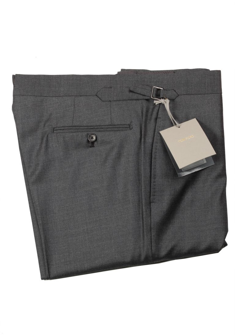 TOM FORD Gray Wool Dress Trousers Size 56 / 40 U.S. - thumbnail | Costume Limité