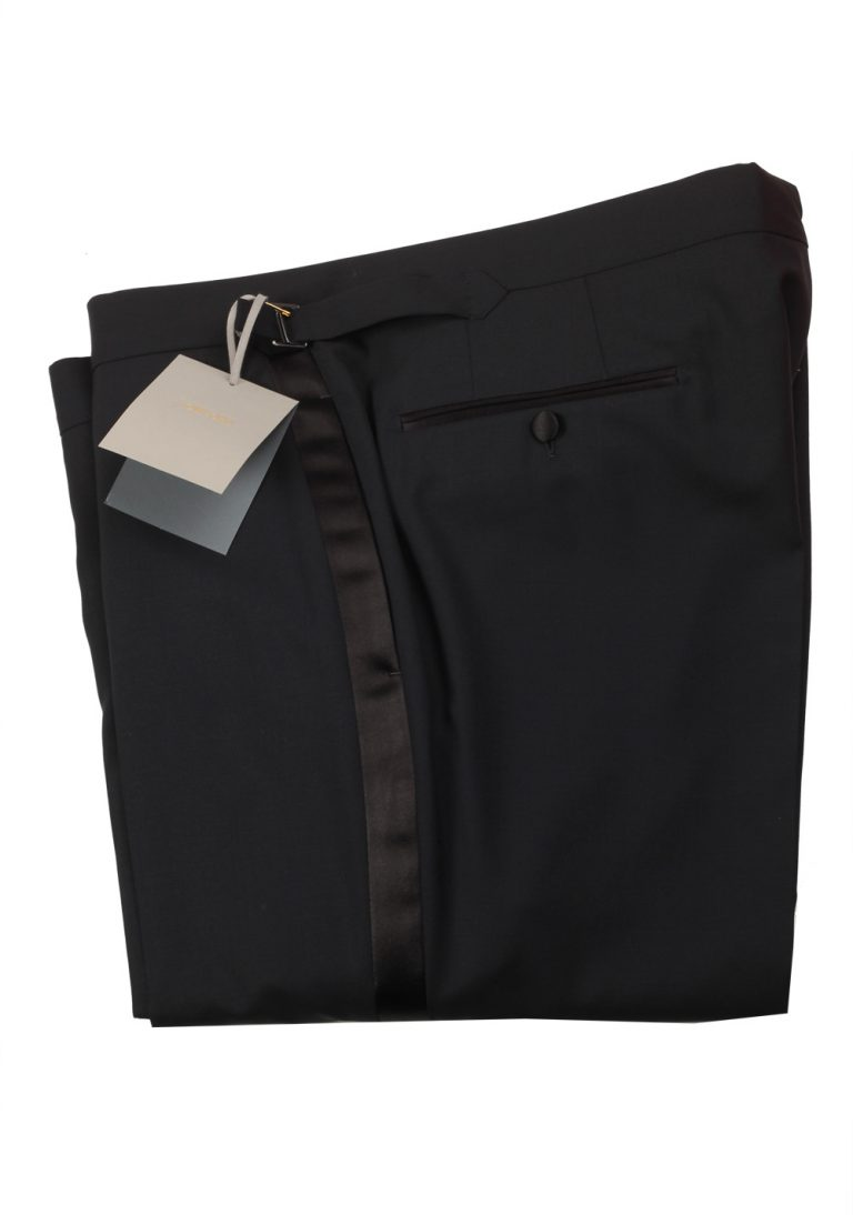 TOM FORD Black Wool Tuxedo Trousers Size 58 / 42 U.S. - thumbnail   Costume Limité