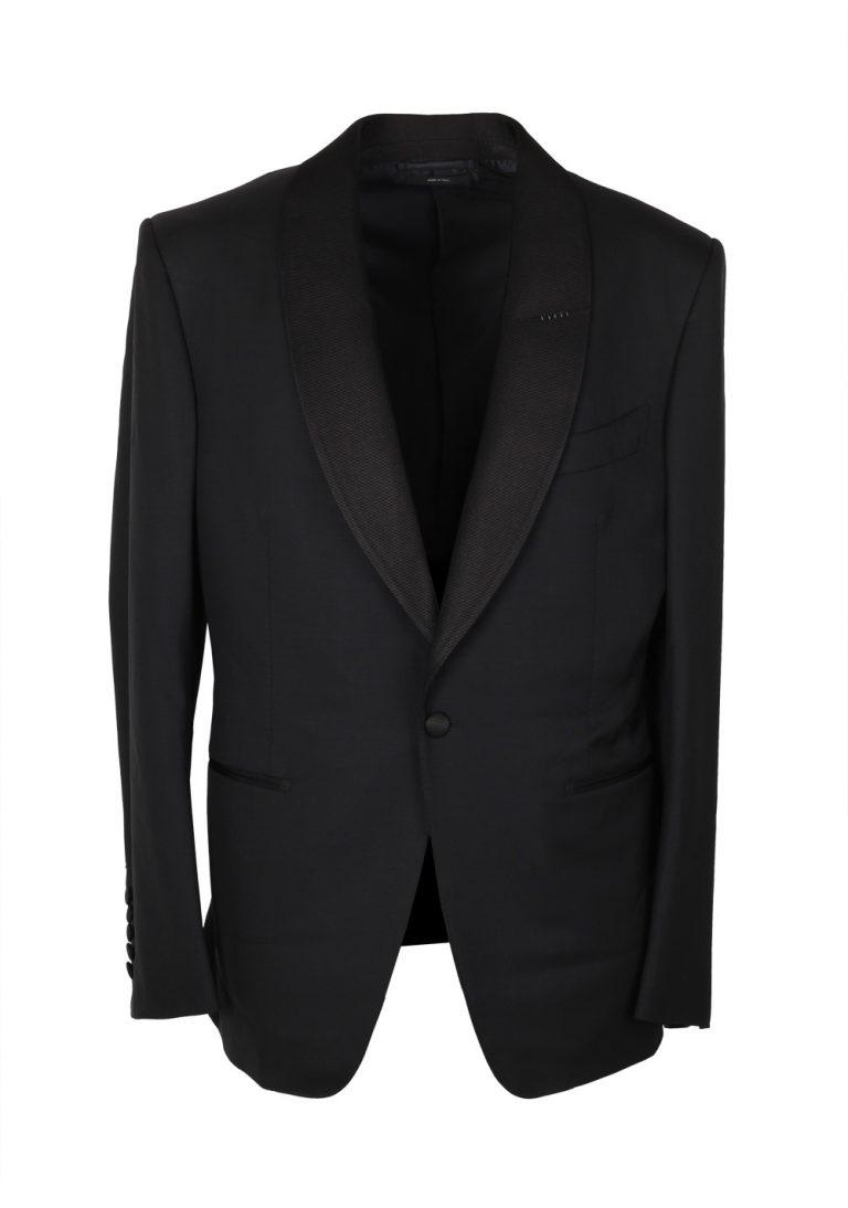TOM FORD Windsor Black Tuxedo Suit Size 50C / 40S U.S. Shawl Collar Fit A - thumbnail | Costume Limité