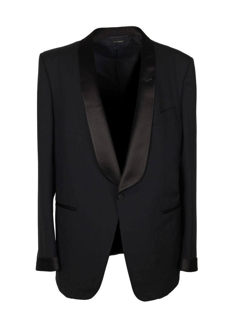 TOM FORD O'Connor Black Shawl Collar Tuxedo Suit Size 56 / 46R U.S. Fit Y - thumbnail | Costume Limité