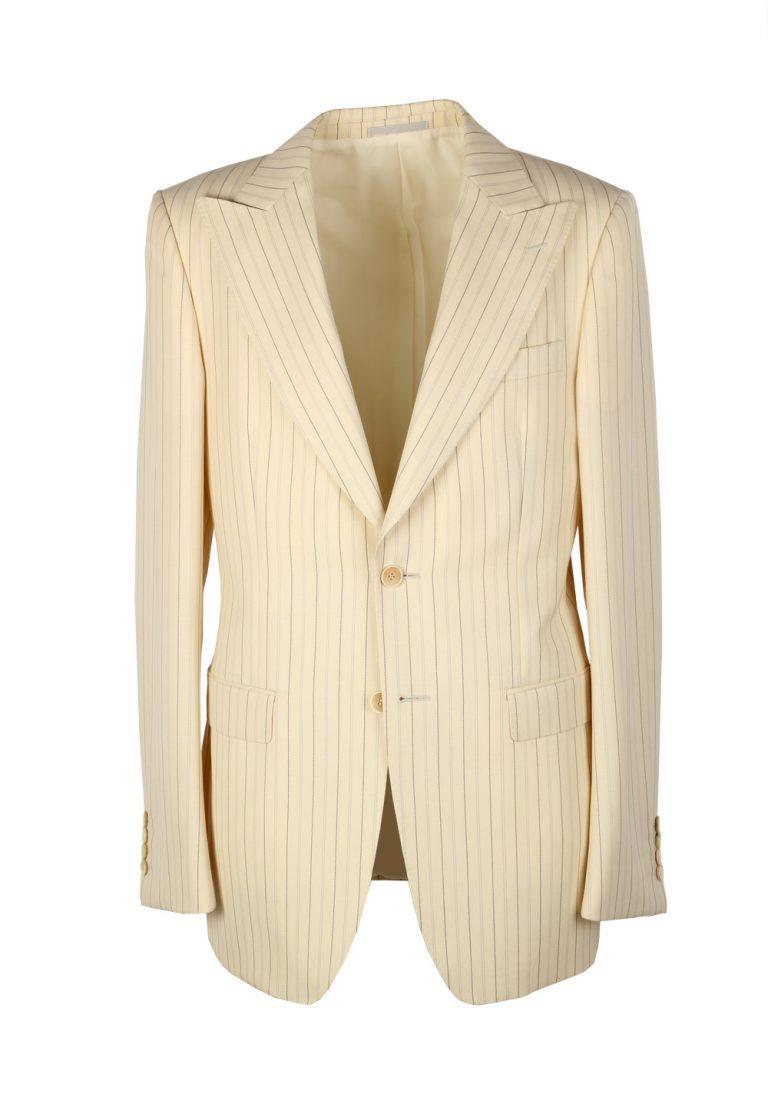 Gucci Ivory Striped Suit Size 56L / 46L U.S. In Wool - thumbnail | Costume Limité