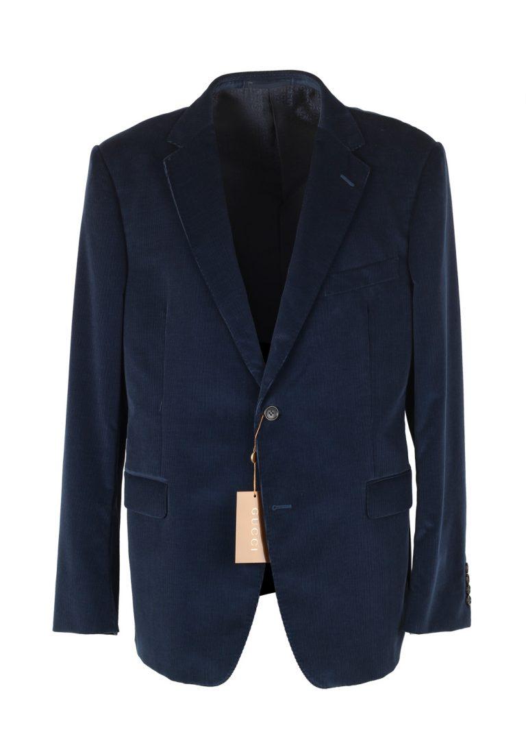 Gucci Blue Corduroy Suit Size 56 / 46R U.S. In Cotton - thumbnail | Costume Limité