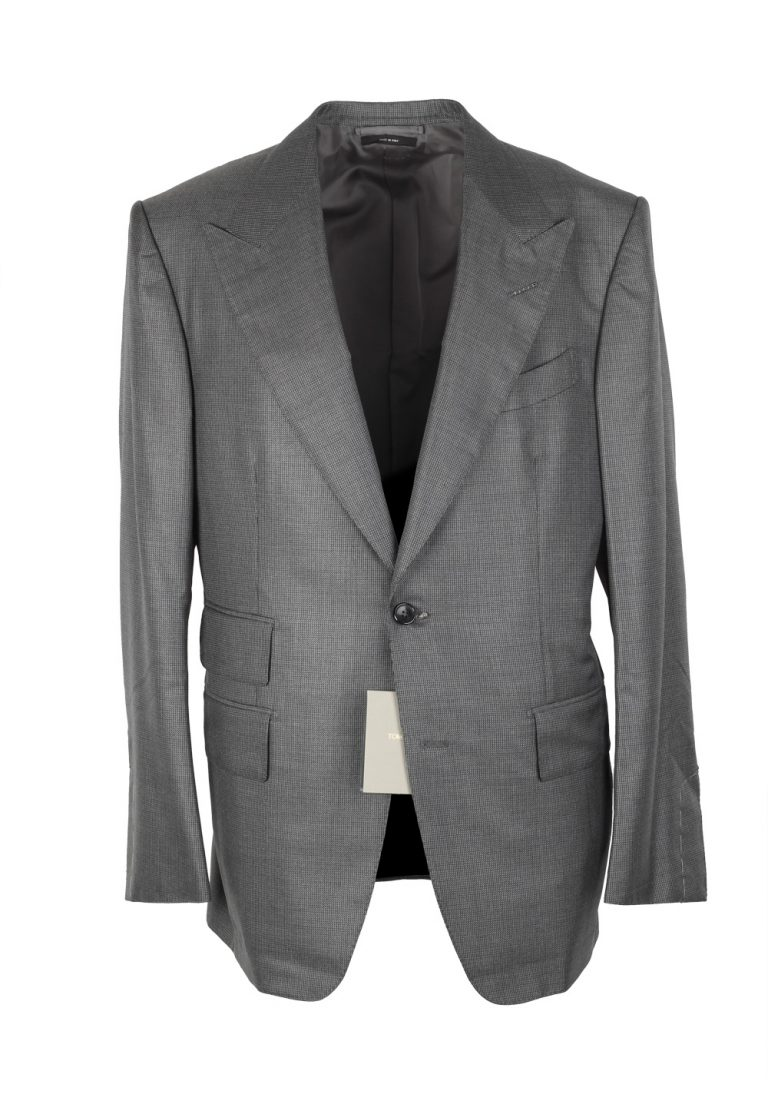 TOM FORD Windsor Gray Suit Size 50 / 40R U.S. Silk Wool Fit A - thumbnail | Costume Limité