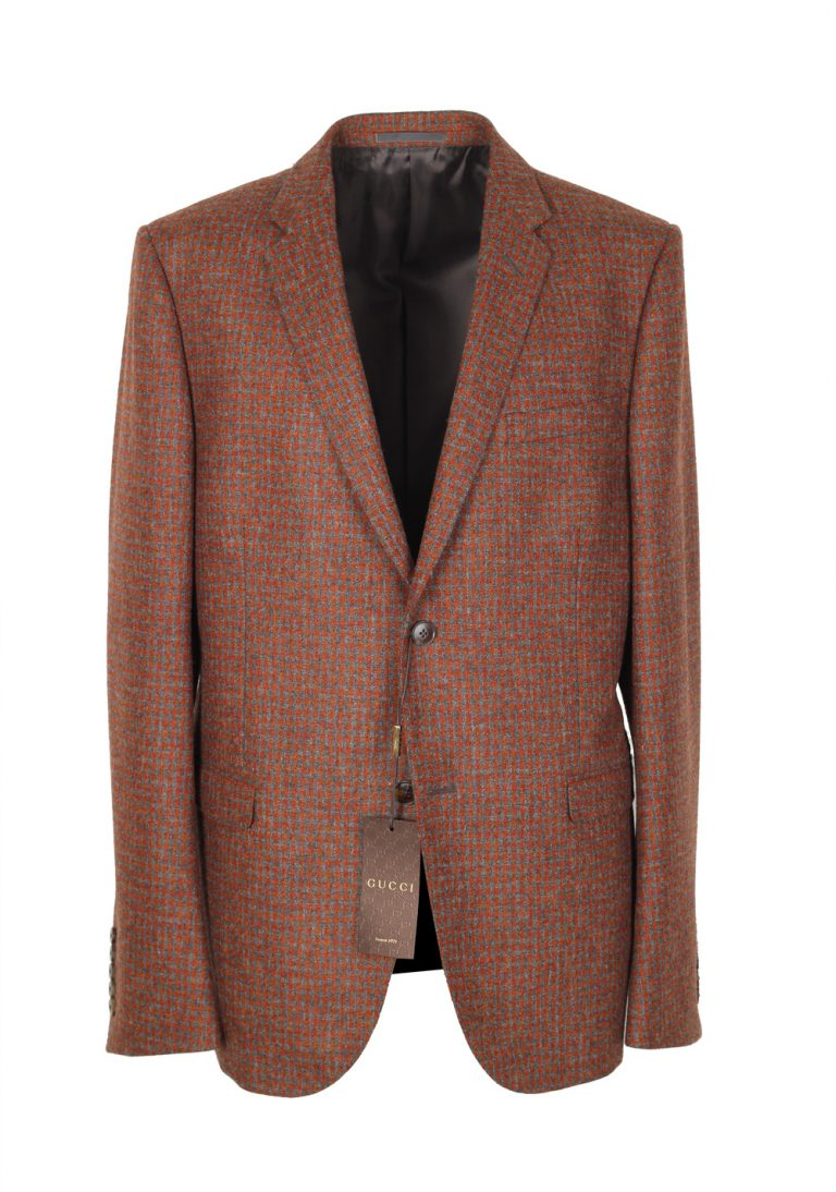 Gucci Brown Checked Sport Coat Size 54 / 44R U.S. In Wool - thumbnail | Costume Limité