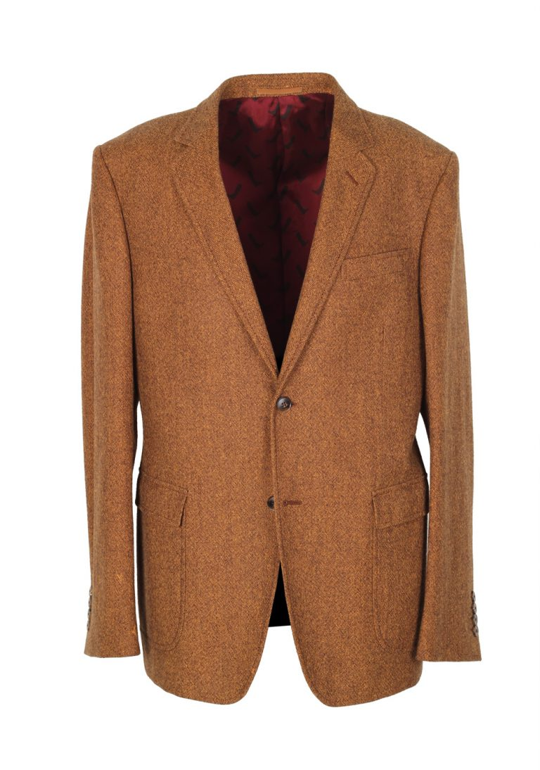 Gucci Brown Tweed Sport Coat Size 52 / 42R U.S. Wool Cotton - thumbnail | Costume Limité