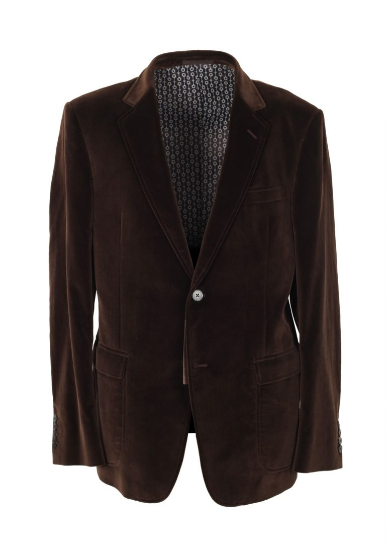 Gucci Brown Velvet Sport Coat Size 52 / 42R U.S. In Cotton - thumbnail | Costume Limité