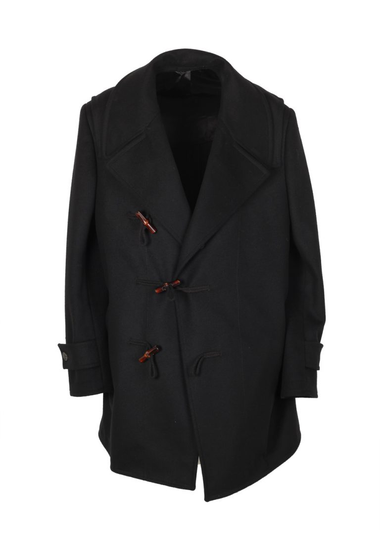 Gucci Black Duffle Coat Size 52 / 42R U.S. In Wool - thumbnail | Costume Limité