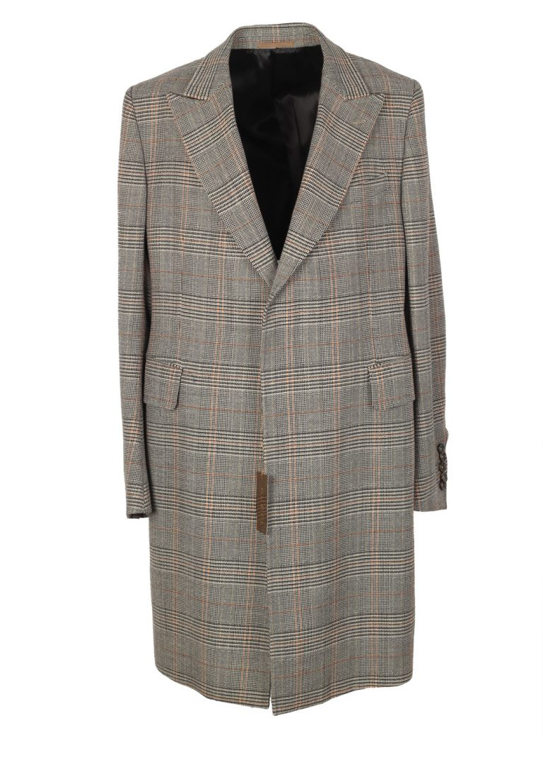 Gucci Gray Checked Overcoat Size 56 / 46R U.S. In Wool - thumbnail | Costume Limité
