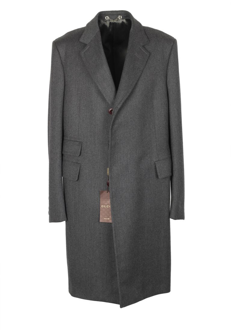 Gucci Gray Overcoat Size 52 / 42R U.S. In Wool - thumbnail | Costume Limité
