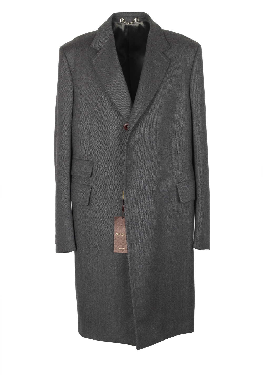 Gucci Gray Overcoat Size 52 / 42R U.S. In Wool | Costume Limité