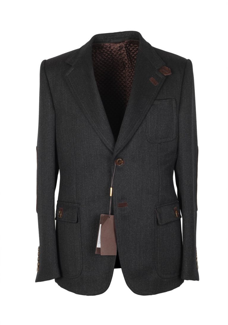 Gucci Gray Coat Size 50 / 40R U.S. In Wool - thumbnail | Costume Limité