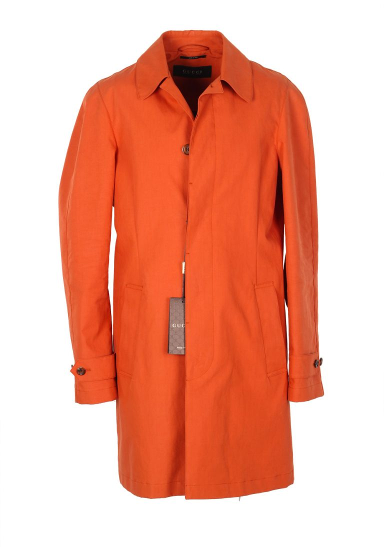 Gucci Orange Rain Coat Size 48 / 38R U.S. In Cotton - thumbnail | Costume Limité