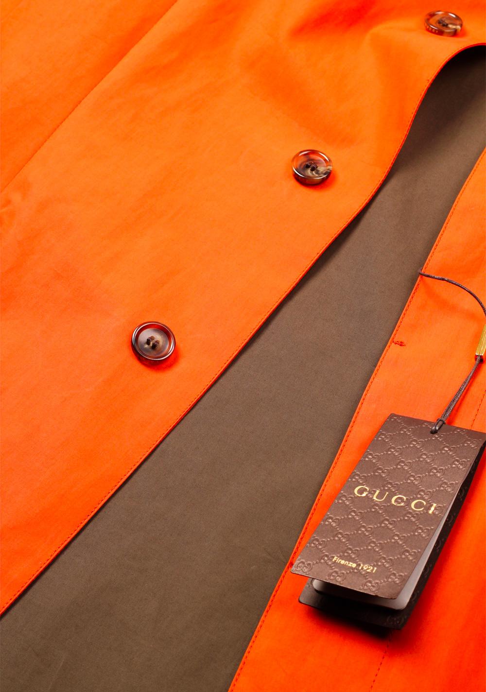 Gucci Orange Rain Coat Size 48 / 38R U.S. In Cotton | Costume Limité