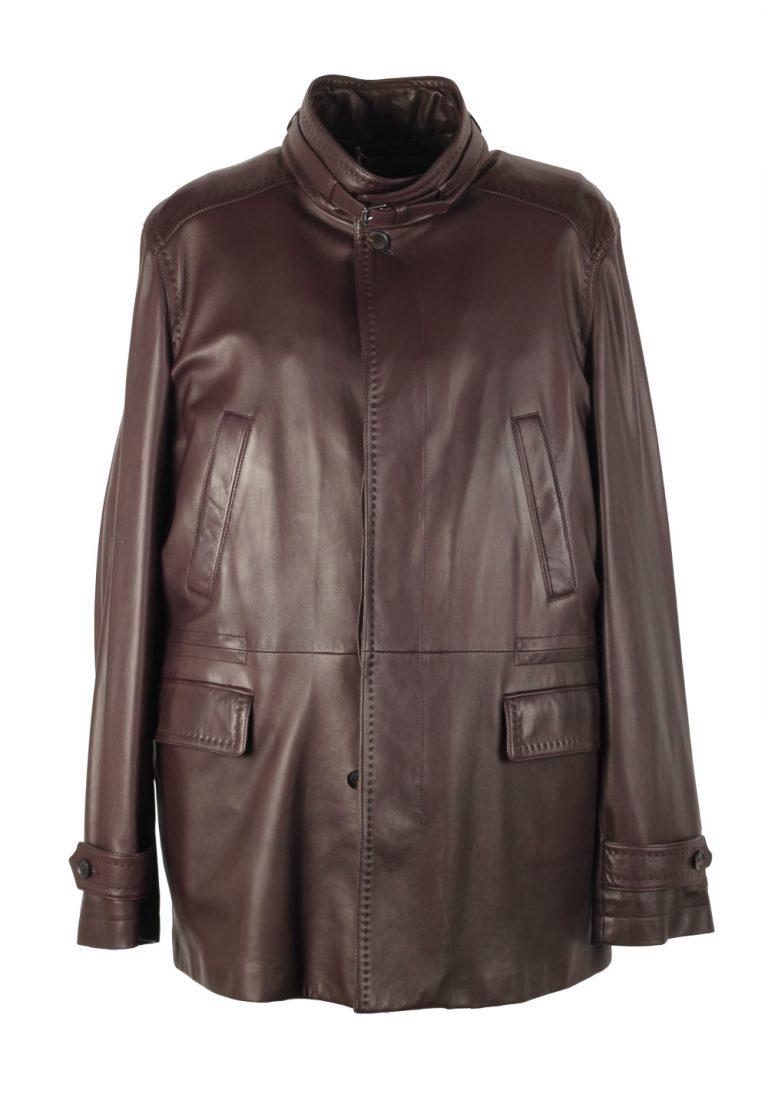 Brioni Palissandro Blouson Coat Leather Jacket Size 58 / 48R U.S. - thumbnail | Costume Limité