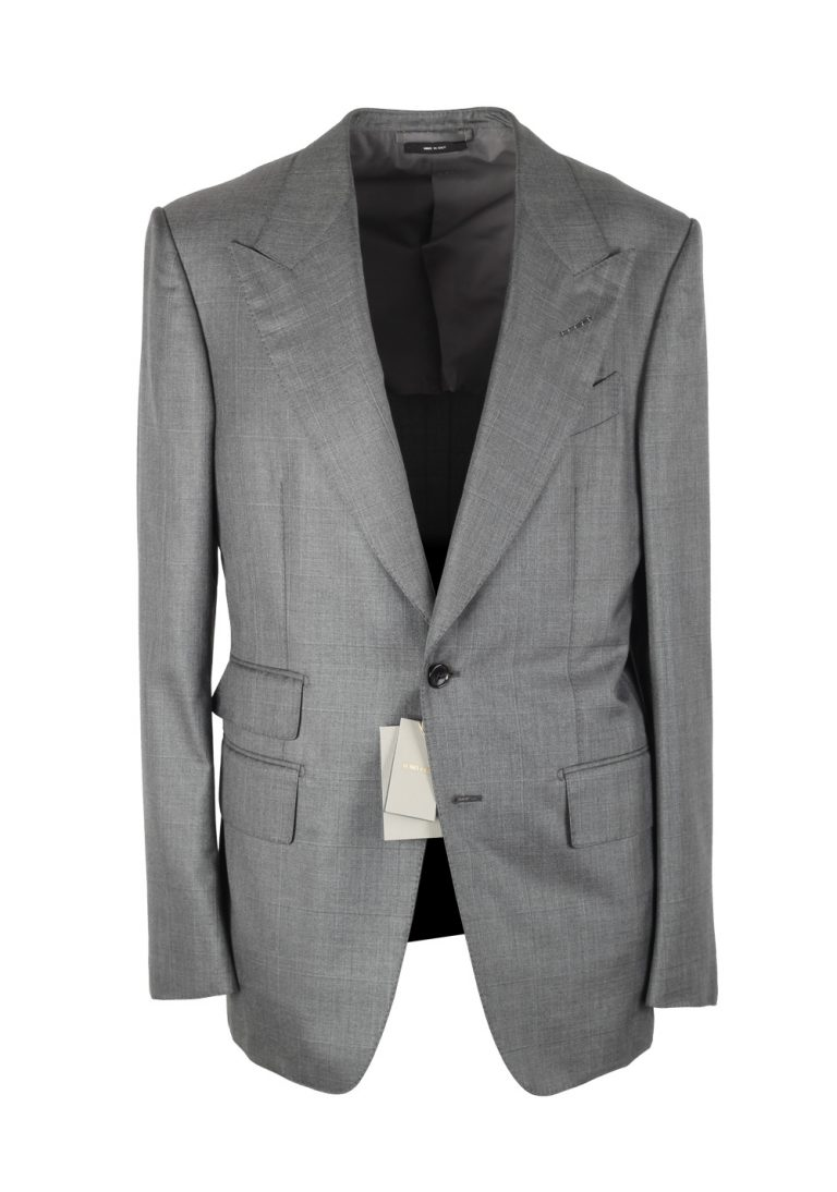 TOM FORD O'Connor Checked Gray Sport Coat Size 48 / 38R U.S. Silk Wool Fit Y - thumbnail | Costume Limité