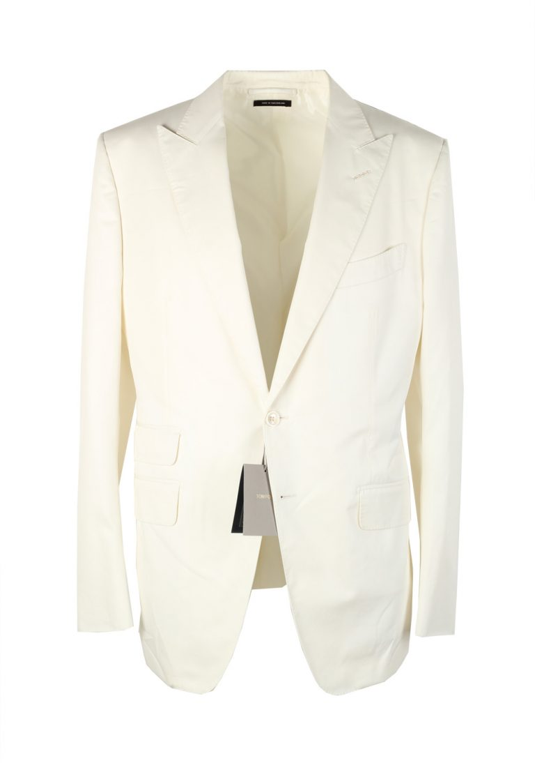 TOM FORD O'Connor Off White Sport Coat Size 50 / 40R U.S. Cotton Fit Y - thumbnail | Costume Limité