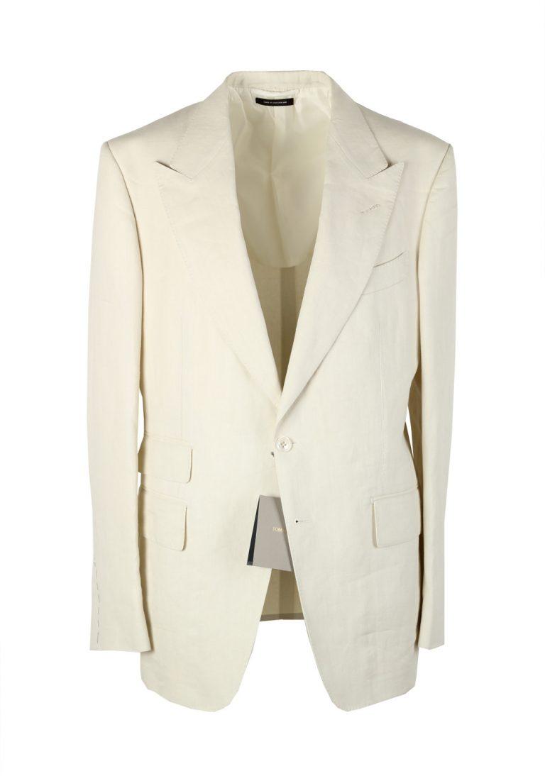 TOM FORD Shelton Off White Sport Coat Size 50 / 40R U.S. Cotton - thumbnail | Costume Limité