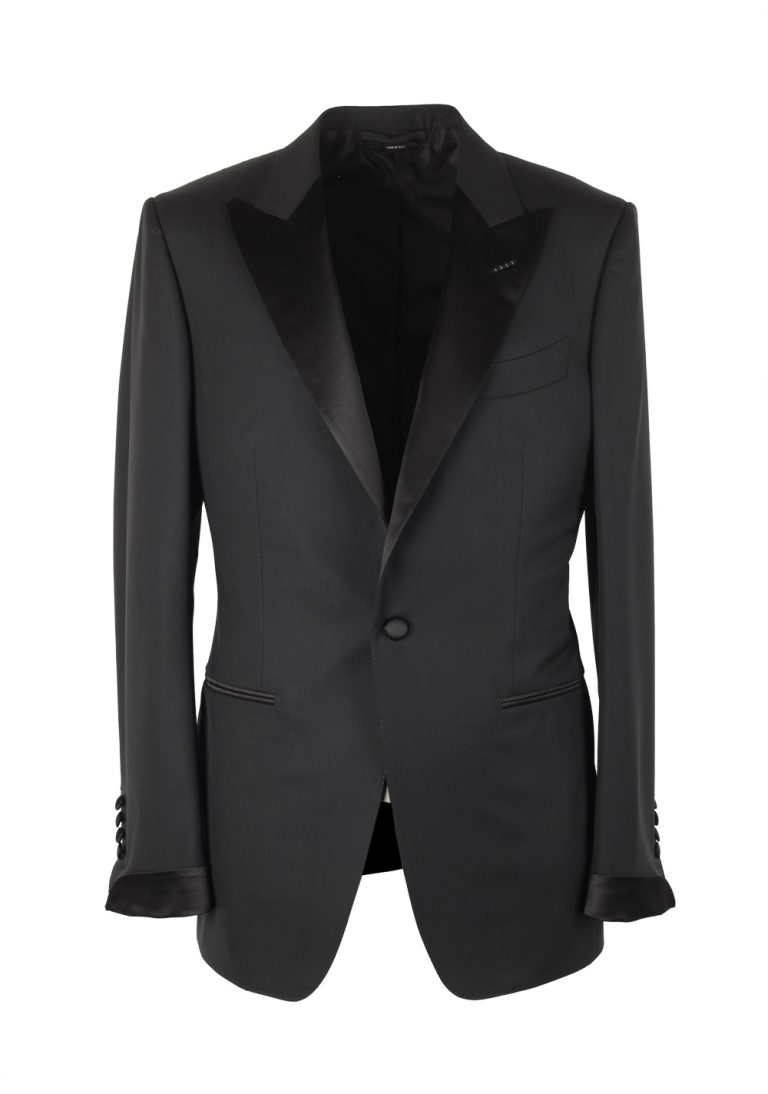 TOM FORD O'Connor Black Tuxedo Suit Smoking Size 48 / 38R U.S. Fit Y - thumbnail   Costume Limité