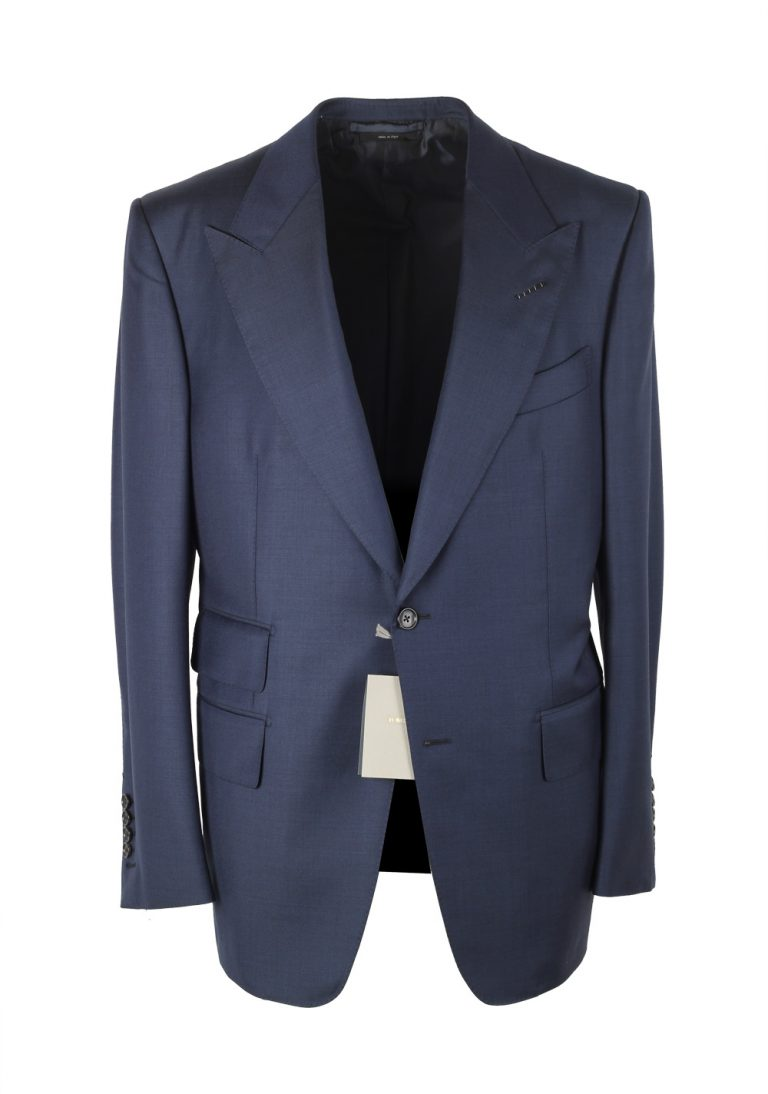 TOM FORD Windsor Navy Suit Size 50 / 40R U.S. In Wool Fit A - thumbnail | Costume Limité
