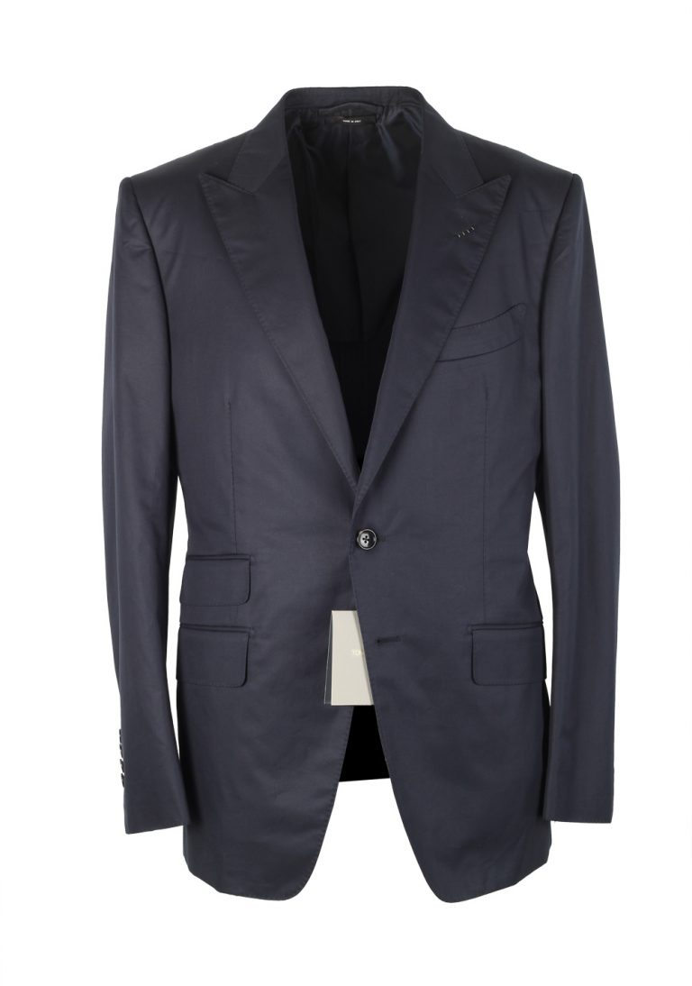 TOM FORD O'Connor Navy Suit Size 50 / 40R U.S. In Cotton Fit Y - thumbnail | Costume Limité