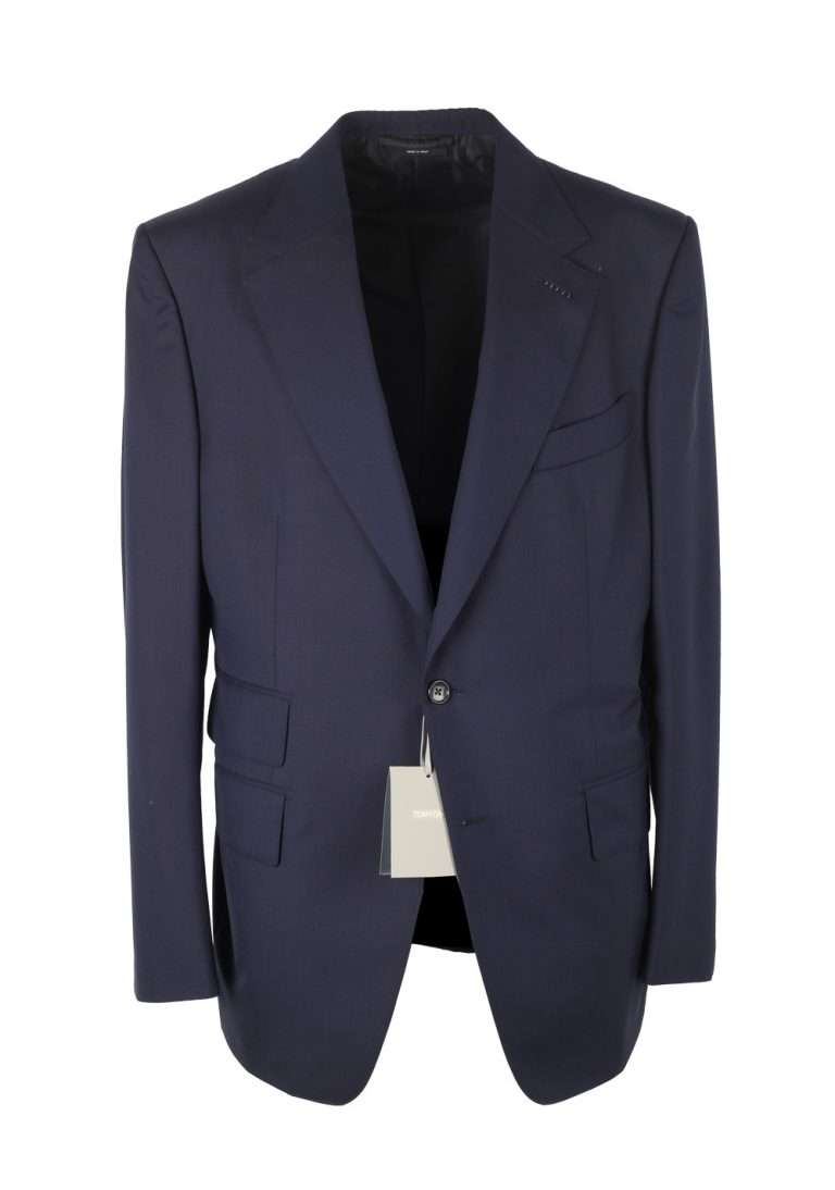 TOM FORD Windsor Navy Suit Size 52 / 42R U.S. Wool Fit A - thumbnail | Costume Limité