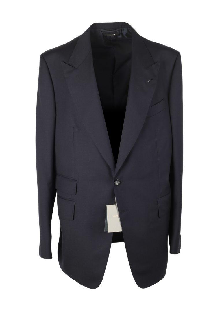 TOM FORD Shelton Navy Suit Size 56L / 46L U.S. Wool - thumbnail | Costume Limité