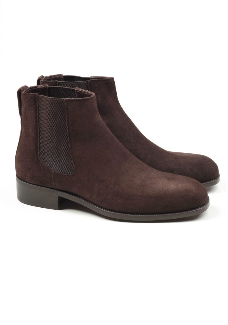 TOM FORD Wilson Brown Suede Chelsea Boots Shoes Size 8,5 UK / 9,5 U.S. - thumbnail | Costume Limité