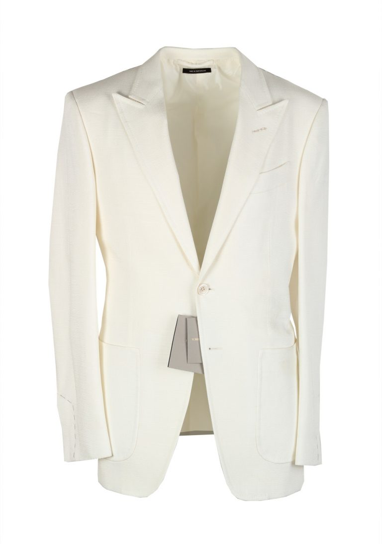TOM FORD O'Connor Off White Sport Coat Size 46 / 36R Fit Y - thumbnail | Costume Limité