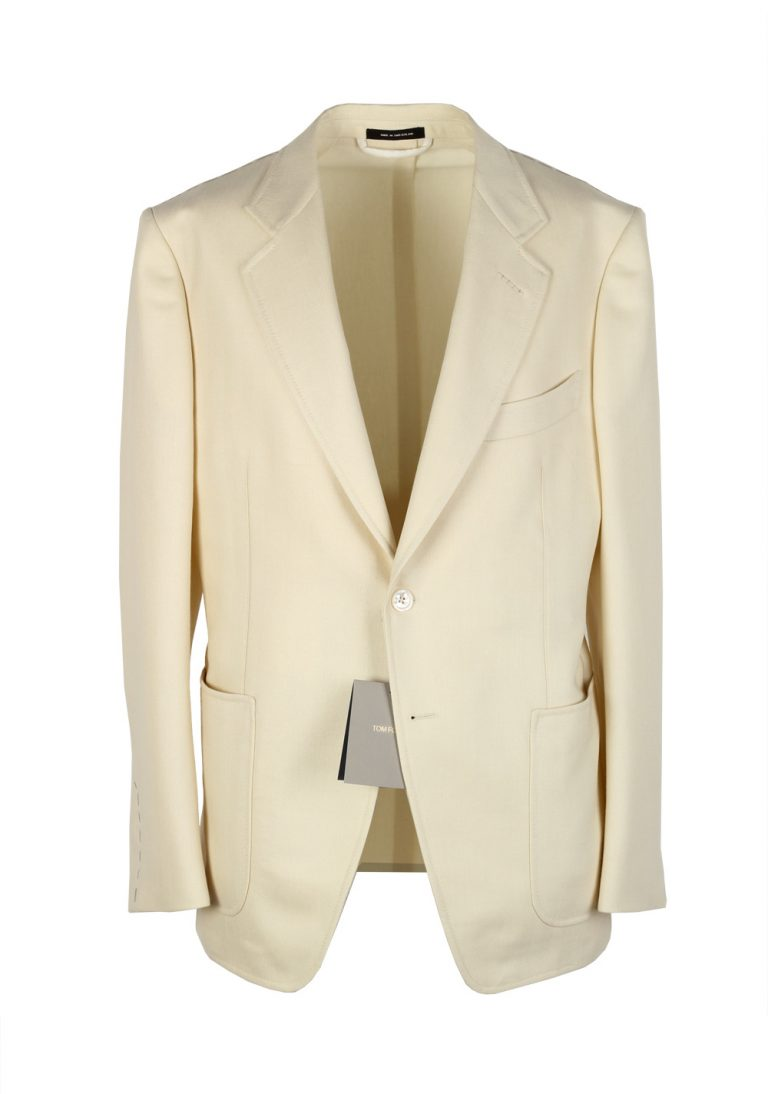 TOM FORD O'Connor Beige Sport Coat Size 50 / 40R U.S. Mohair Silk Wool Fit Y - thumbnail | Costume Limité