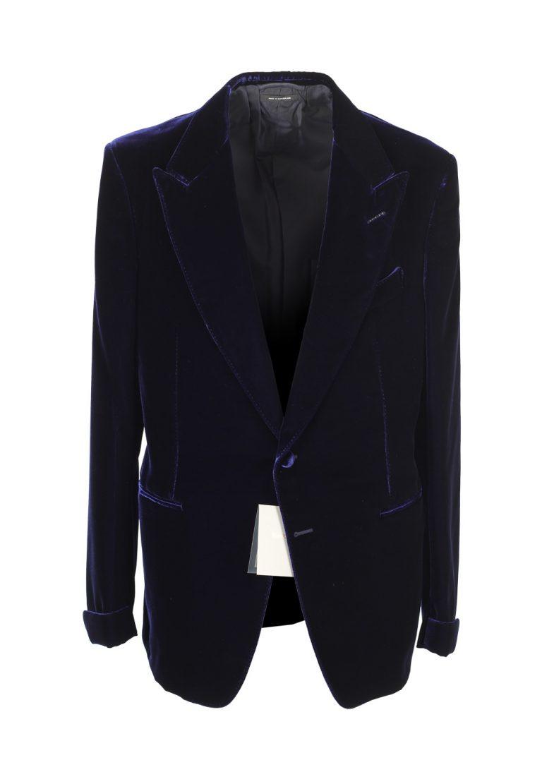 TOM FORD Shelton Blue Sport Coat Velvet Tuxedo Dinner Jacket Size 58 / 48R U.S. - thumbnail | Costume Limité