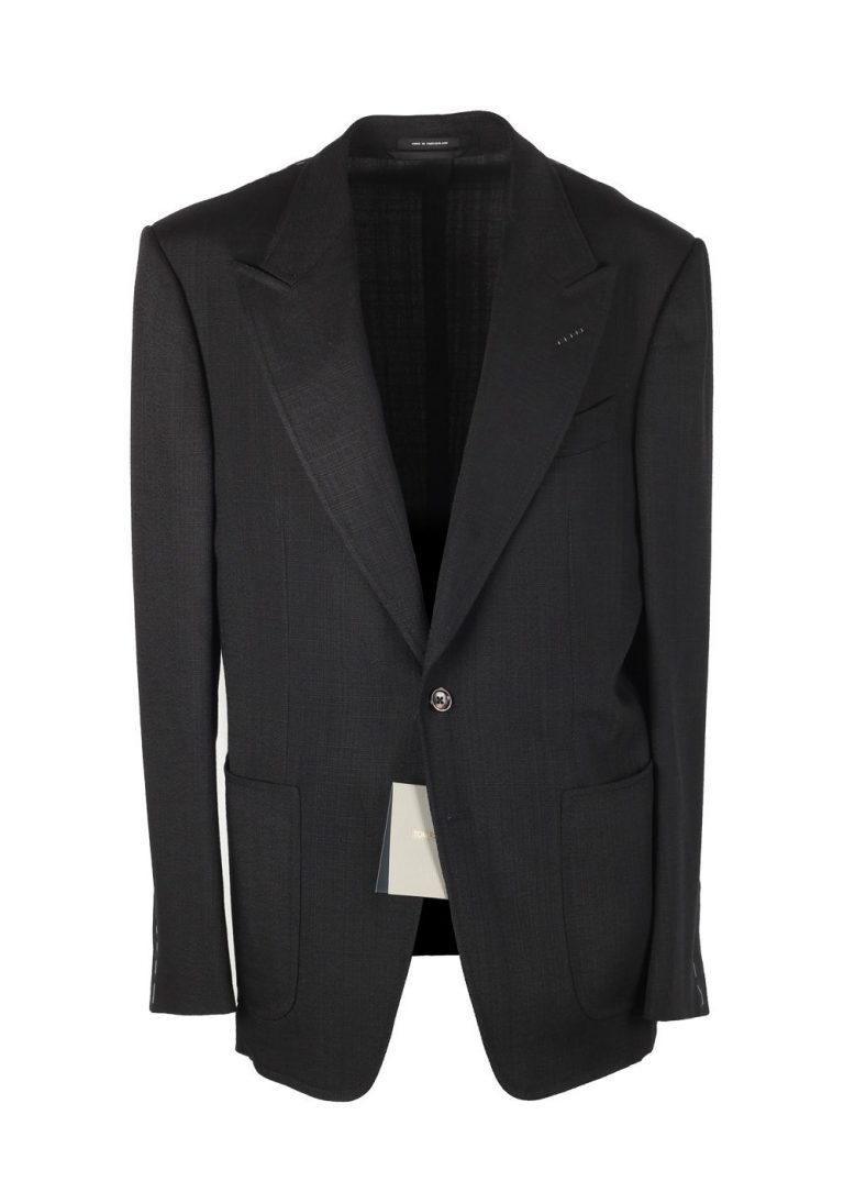 TOM FORD Shelton Black Sport Coat Size 54 / 44R U.S. In Rayon - thumbnail | Costume Limité