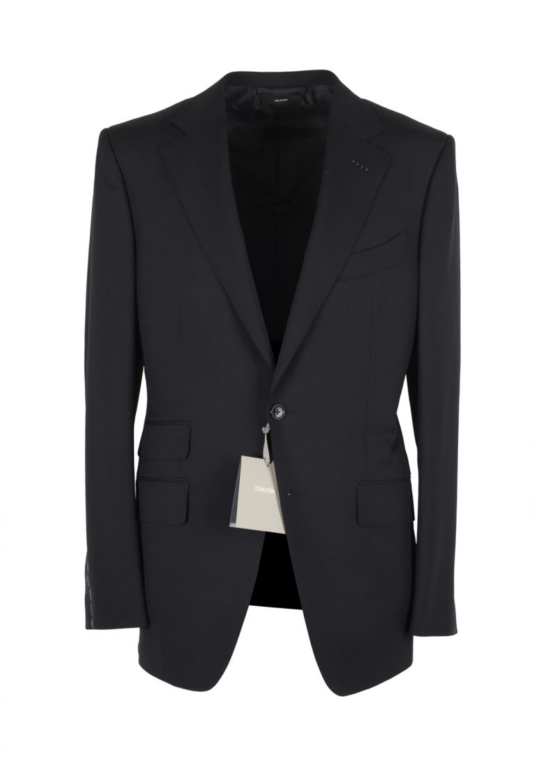 TOM FORD O'Connor Solid Black Suit Size 48 / 38R U.S. Wool Fit Y - thumbnail | Costume Limité