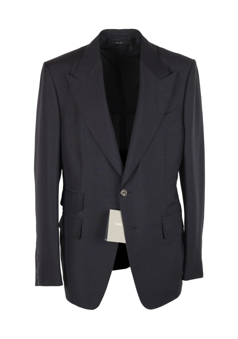 TOM FORD Shelton Blue Suit Size 50 / 40R U.S. In Mohair Wool - thumbnail | Costume Limité