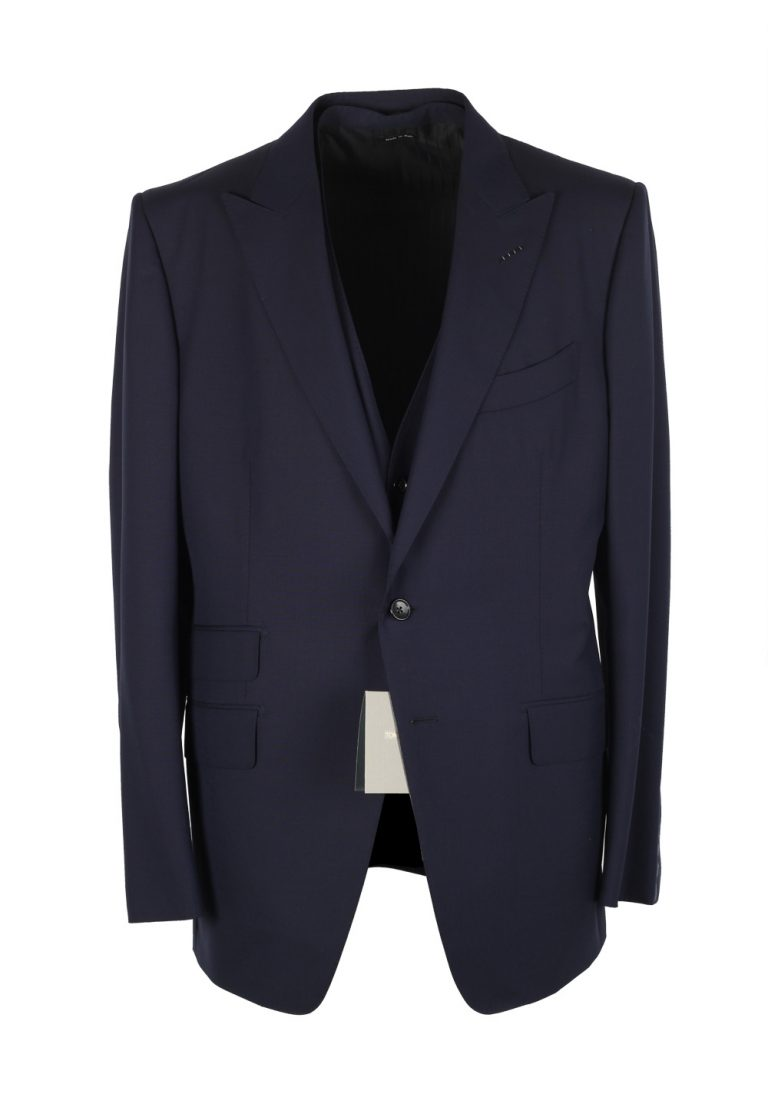 TOM FORD O'Connor Blue 3 Piece Suit Size 54 / 44R U.S. Wool Fit Y - thumbnail | Costume Limité