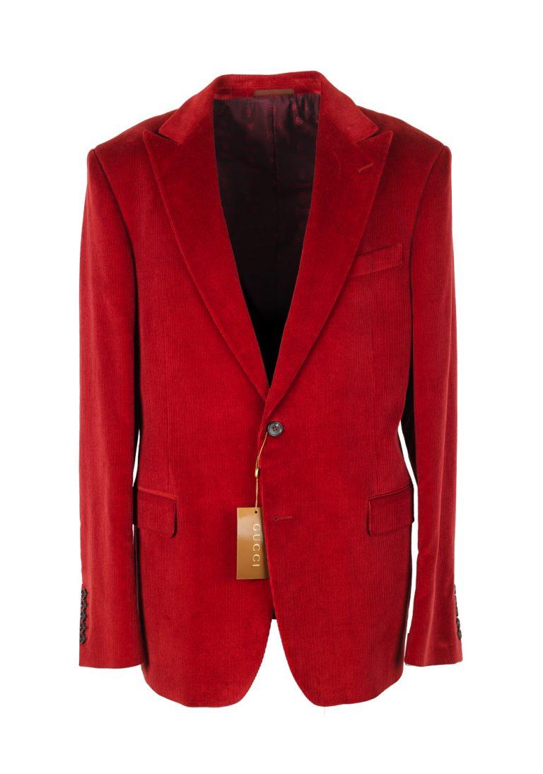 Gucci Red Corduroy Sport Coat Size 56L / 46L U.S. In Cotton - thumbnail | Costume Limité