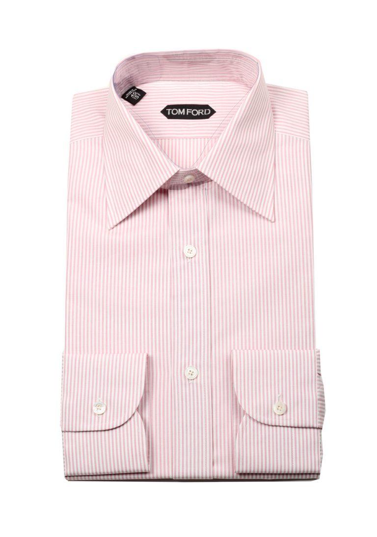 TOM FORD Striped White Pink Dress Shirt Size 40 / 15,75 U.S. - thumbnail | Costume Limité