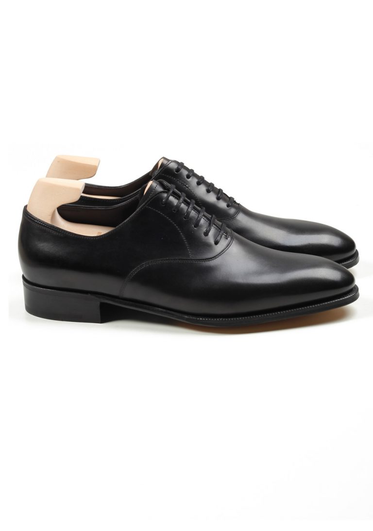 John Lobb Seaton Black Oxford Shoes Size 7 UK / 8 U.S. On 7000 Last - thumbnail | Costume Limité