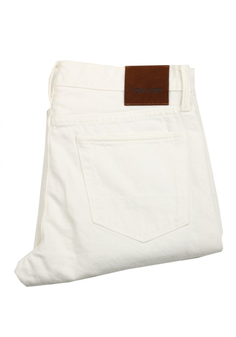 TOM FORD Off White Slim Fit Jeans TFD001 Size 50 / 34 U.S. - thumbnail | Costume Limité