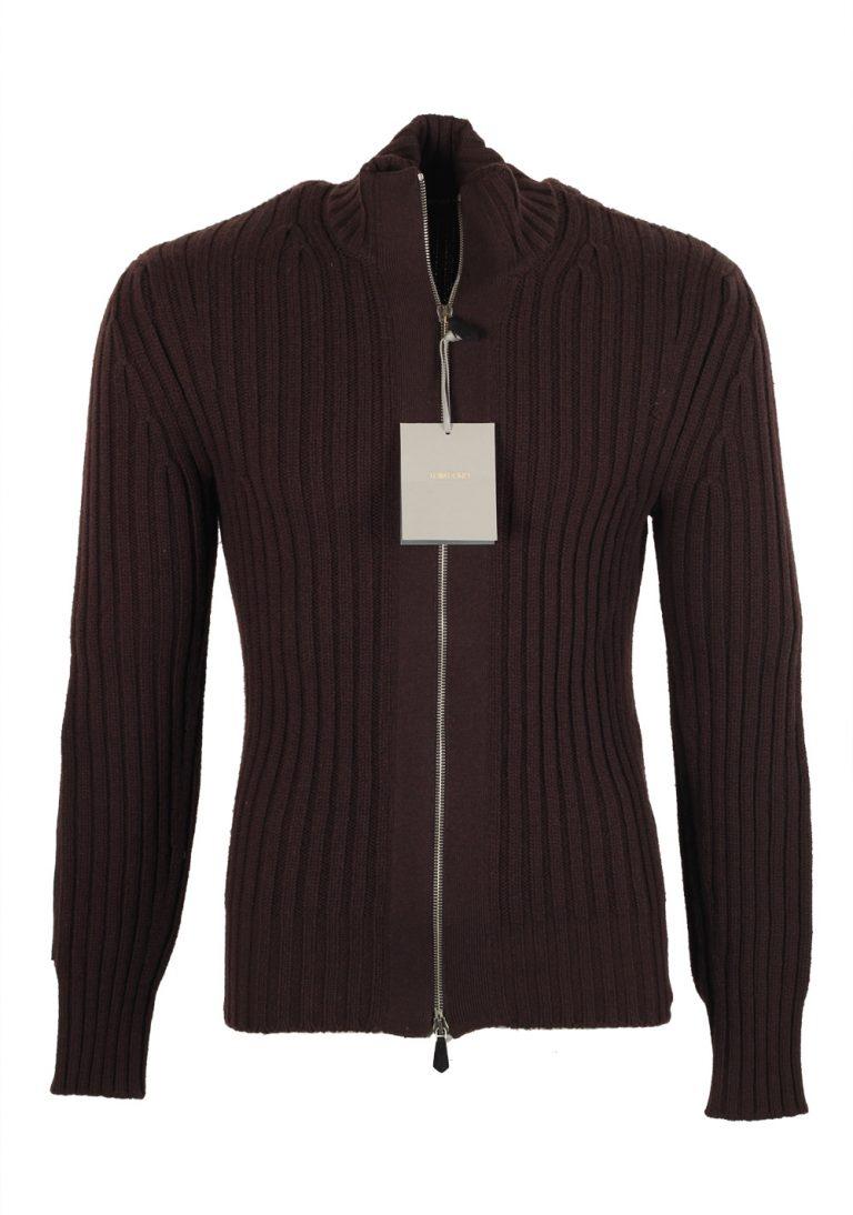 TOM FORD Brown Zipper Cardigan Size 48 / 38R U.S. Wool Cashmere - thumbnail | Costume Limité