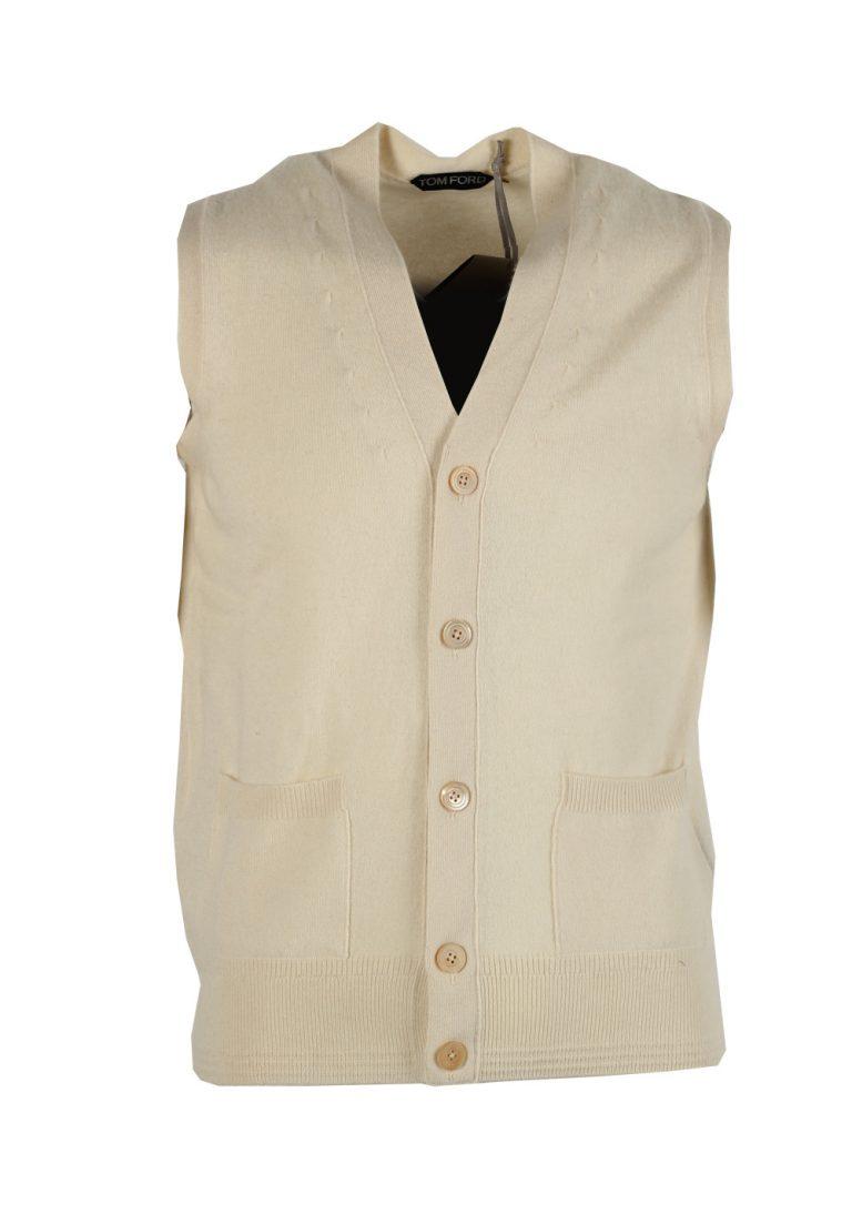 TOM FORD Beige Button Vest Size 48 / 38R U.S. In Cashmere - thumbnail | Costume Limité