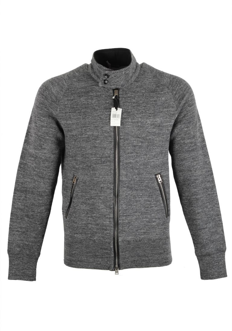 TOM FORD Gray Zipper Cardigan Size 48 / 38R U.S. In Cotton - thumbnail | Costume Limité