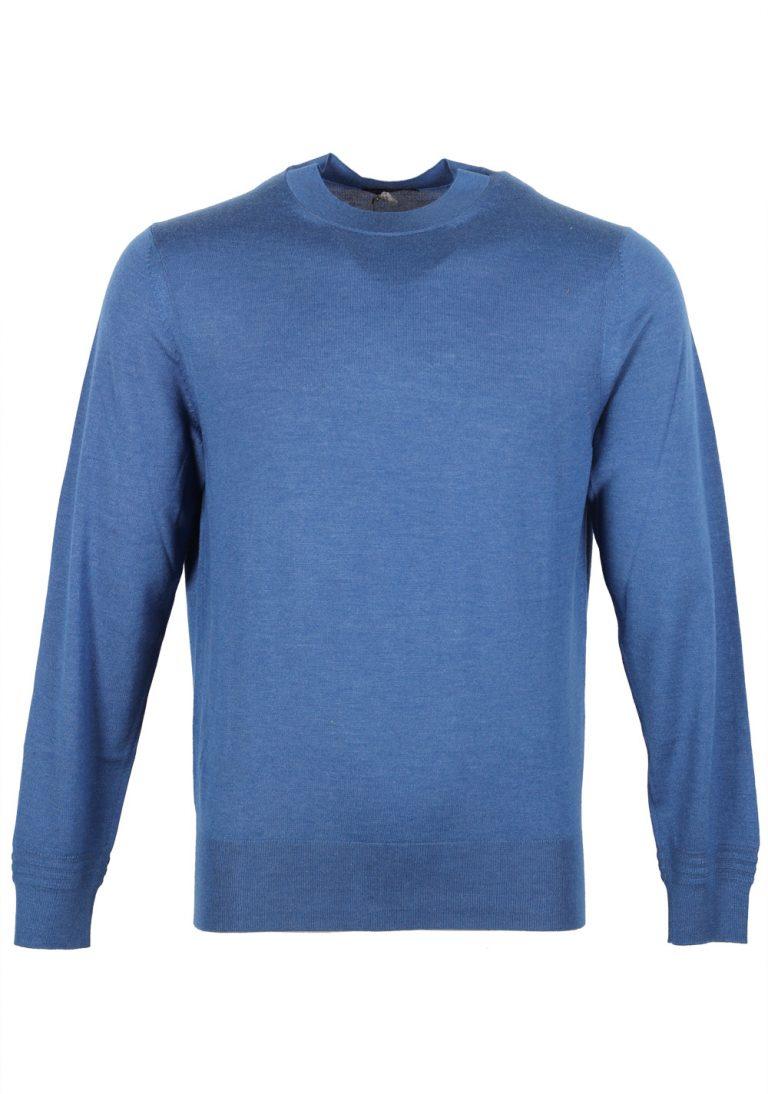 TOM FORD Blue Crew Neck Sweater Size 48 / 38R U.S. Cashmere Silk - thumbnail | Costume Limité